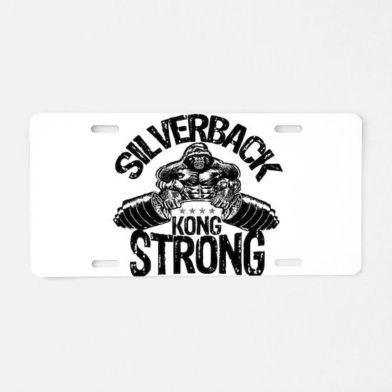KONG STRONG Aluminum License Plate