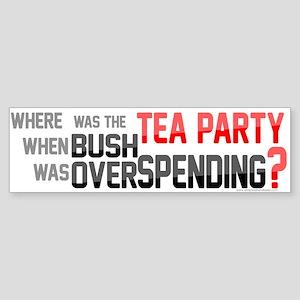 Where was the TEA PARTY? Sticker (Bumper)