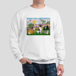 Toy Fox Terrier Easter Sweatshirt