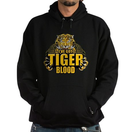 I've Got Tiger Blood Hoodie (dark)