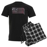 USA Hockey Flag Men's Dark Pajamas
