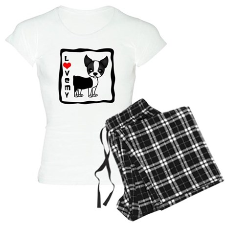 Love My Boston Terrier Women's Light Pajamas