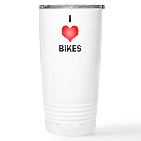 I Love Bikes Stainless Steel Travel Mug