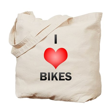 I Love Bikes Tote Bag