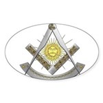 Celtic Past Master Sticker (Oval)
