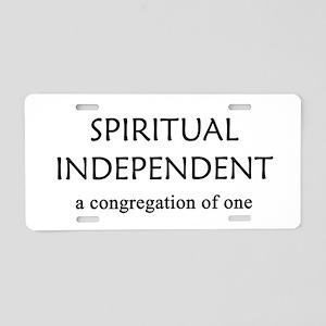 Spiritual Independent Aluminum License Plate