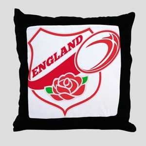 Rugby England Throw Pillow