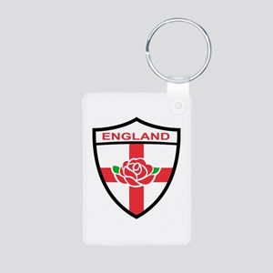 Rugby England Aluminum Photo Keychain