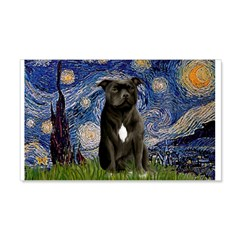 Starry-Am.Staffordshire (blk) Wall Decal