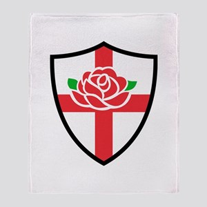 Rugby England Throw Blanket