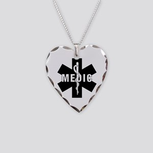 Medic EMS Star Of Life Necklace Heart Charm