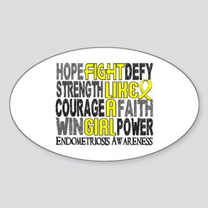 Licensed Fight Like A Girl 23.3 End Sticker (Oval)