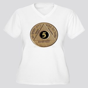 5 YEAR COIN Women's Plus Size V-Neck T-Shirt