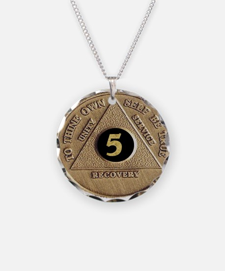 5 YEAR COIN Necklace Circle Charm