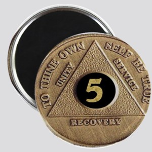 5 YEAR COIN Magnet