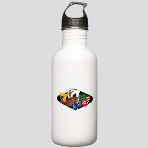Casino Games Collage Stainless Water Bottle 1.0L