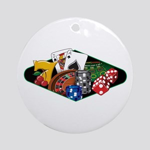 Casino Games Collage Ornament (Round)