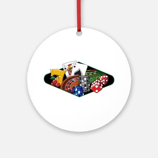 Casino Games Collage Ornament (Round)