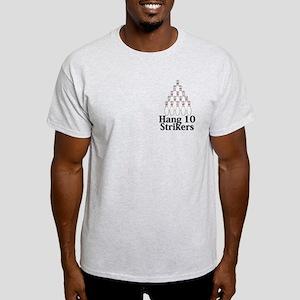 Hang 10 Strikers Logo 9 Light T-Shirt Design Front