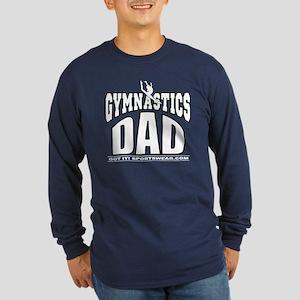 Gymnast's Dad Long Sleeve Dark T-Shirt