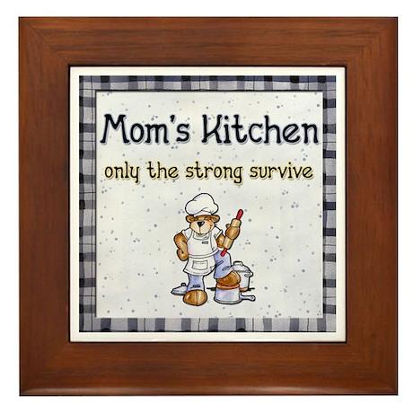Mom's Kitchen 2 Framed Tile