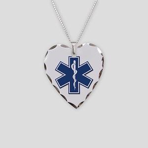 EMT Rescue Necklace Heart Charm