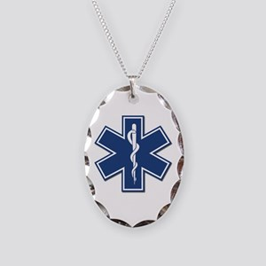 EMT Rescue Necklace Oval Charm
