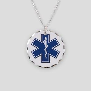 EMT Rescue Necklace Circle Charm