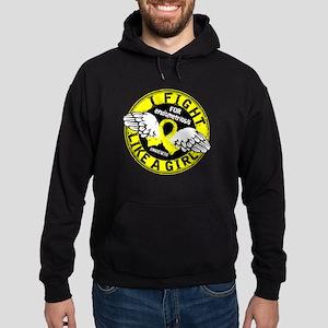 Licensed Fight Like A Girl 16.5 Endo Hoodie (dark)