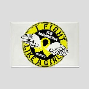 Licensed Fight Like A Girl 16.5 E Rectangle Magnet