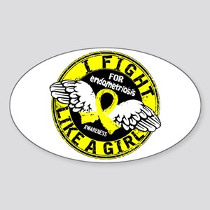 Licensed Fight Like A Girl 16.5 End Sticker (Oval)