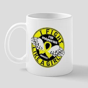 Licensed Fight Like A Girl 16.5 Endomet Mug