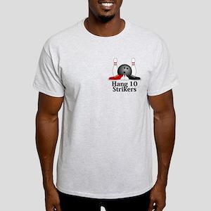 Hang 10 Strikers Logo 15 Light T-Shirt Design Fron