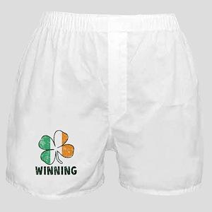 Winning Irish Shamrock Boxer Shorts