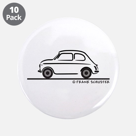"Fiat 500 Cinquecento 3.5"" Button (10 pack)"