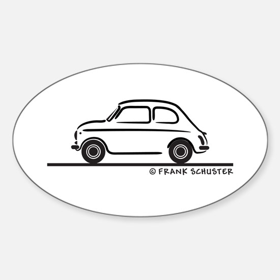 Fiat 500 Cinquecento Sticker (Oval)