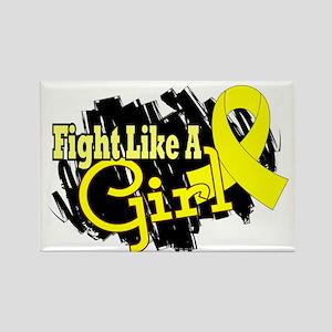 Licensed Fight Like A Girl 17.8 E Rectangle Magnet