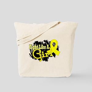 Licensed Fight Like A Girl 17.8 Endometri Tote Bag