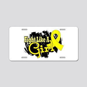 Licensed Fight Like A Girl Aluminum License Plate