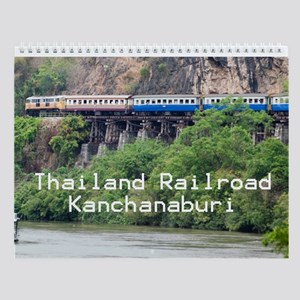 Thailand Railroad - Kanchanaburi Wall Calendar