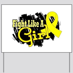 Licensed Fight Like A Girl 17.8 Endometr Yard Sign
