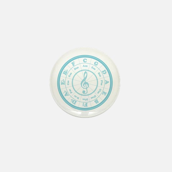 Blue Circle of Fifths Mini Button