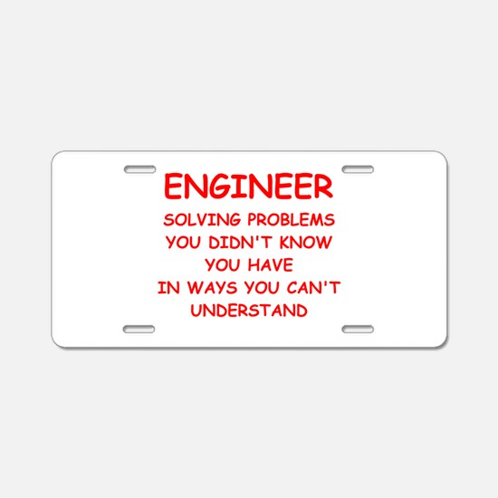 funny science joke Aluminum License Plate