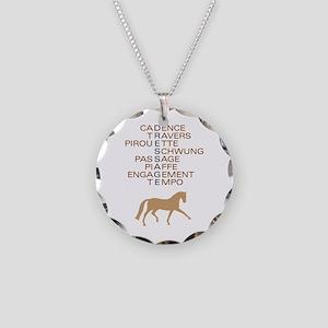 dressage speak Necklace Circle Charm