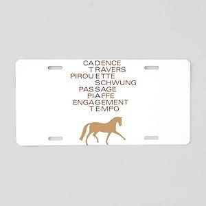 dressage speak Aluminum License Plate