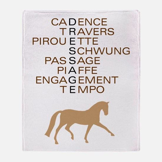 dressage speak Throw Blanket