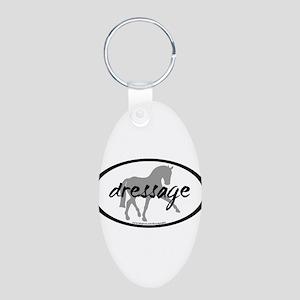 Dressage Sidepass w/ Text Aluminum Oval Keychain