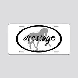 Dressage Sidepass w/ Text Aluminum License Plate