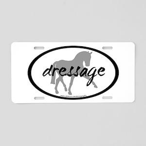 Dressage Sidepass w/ Text Aluminum License Plate