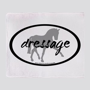 Dressage Sidepass w/ Text Throw Blanket